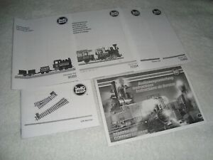 LGB MARKLIN BLACK & WHITE FACTORY INSTRUCTION MANUAL LOT OF 6 NEW CONDITION!