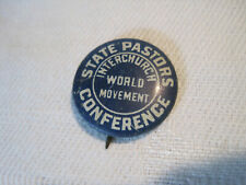 New listing Rare Interchurch Word Movement State Pastors Conferency button pinback