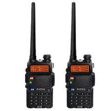 2PCS BaoFeng UV-5R VHF/UHF Dual Band 136-174/400-480Mhz Ham Radio Walkie Talkie