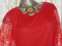 Women's Simply Irresistible Coral Lace Lined Short Top Size SMALL 4 6