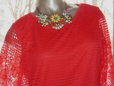 Women's Simply Irresistible Coral Lace Lined Short Top in Size SMALL 4 6