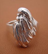 Sterling Silver Shih Tzu Head Study Ring Side View
