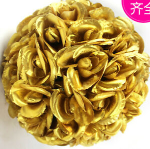 """11-12"""" Rose Flower Kissing Ball Silk Rose Pomander for Wedding and Party 1 Piece"""