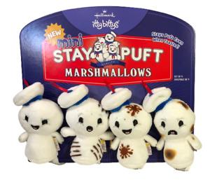 Hallmark Itty Bittys Stay Puft MINI Marshmallows Set of 4 on Card New NWT