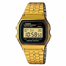 Used Gold Casio Vintage Retro Digital Stainless Steel Watch A159WA-N1DF