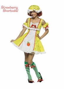 Apple Dumpling Costume Sweet & Sexy 4Pc Adult Dress Hat Arm Poofs Stockings Sm