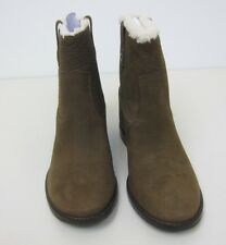 Cole Haan Zillie Genuine Shearling Hidden Wedge Boots - Womens 8B - Partridge