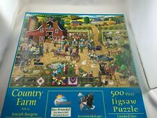 "500 Piece Joseph Burgess Puzzle ""Country Farm"" 18"" x 24"""