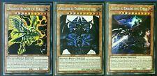 Yu-Gi-Oh! Slifer + Obelisk + Drago Alato di Ra ☻ ITALIANO ☻ Rare Segrete ☻ TN19