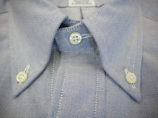 Brooks Brothers Blue Oxford Cloth Button Down Collar Shirt New USA Supima Cotton