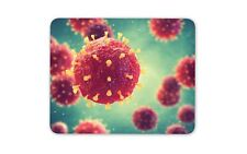 3D Pathogenic Virus Mouse Mat Pad - Biology Doctor Student Gift Computer #13192