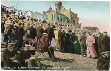 P.C Open Air Sunday Service On Douglas Head Isle Of Man Pub B B