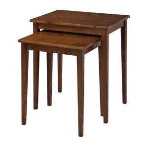 Convenience Concepts American Heritage Nesting End Tables, Espresso - 7105076
