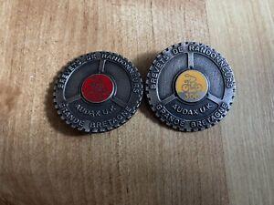 X 2 Badges Long Distance cycling 200 / 300 km brevets de randonneurs audax uk