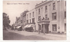 Worcestershire postcard UPTON ON SEVERN, WHITE LION HOTEL by E Baylis, Worcester