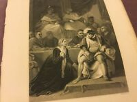 Antique Book Print - Trial of the Marriage of Henry VIII - 1875