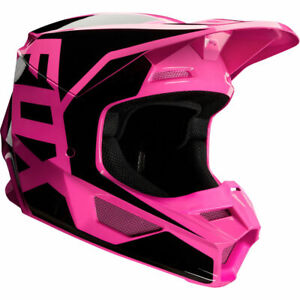 2020 Fox Racing Adult V1 Prix MX Motocross Off Road Helmet Black Pink