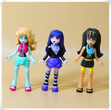 "LOT OF 3 Bloks Monster High  mini action figure 2.75"" LOOSE  k4"