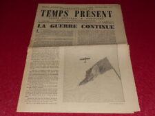 "[PRENSA WW2 39-45] ""TEMPS AHORA SEMANAL"" # 3 / 8 SEPTIEMBRE 1944 Max Jacob"