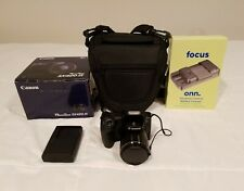 Canon PowerShot SX420 IS Black Digital Camera + Padded Case + Extra Charger