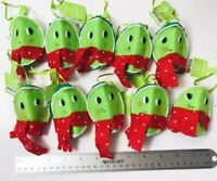 10 New Ornaments LIME SLICE Wedge face Green red Scarf Target Jingle Pop Citrus