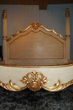 PROMO: Cadre lit king size 180X200CM beige doré à la feuille d'or d'un château