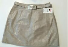 Wilson Leather Mini Skirt-Beige Printed size 6 NWT