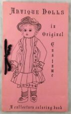 Vintage Antique Dolls In Original Costume Collector's Coloring Book Unused