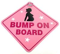 Bump On Board Suction Cup Safety Fun Car Display Window Badge Sign