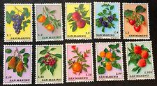 San Marino Stamps #804-813 MNH Complete Set Fruit 1973