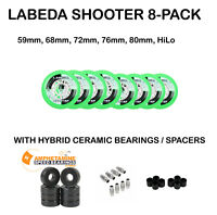 Labeda Shooter Inline Roller Hockey Wheels +Hybrid Ceramic Bearings, Choose Size