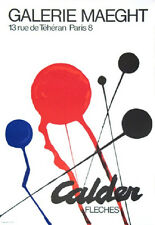 "ALEXANDER CALDER ORIGINAL LITHOGRAPH:   ""FLECHES""  EXCELLENT CONDITION"