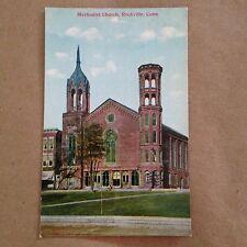 Antique Rockville Connecticut Postcard Methodist Episcopal Church Unused Vernon
