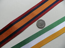 Queens South Africa Medal [QSA]  & Kings SA , Replacement Ribbon. x 1 metre
