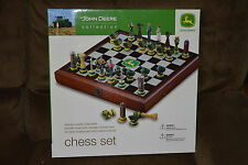 John Deere Heirloom Collectible Wood Chess Set Vintage vs. Contemporary