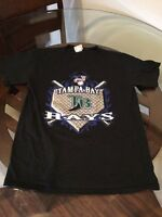 Tampa Bay Rays Lee Sport Black T-Shirt Youth Large Excellent Condition