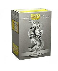 DRAGON SHIELD Loki Silver 100 Matte CARD SLEEVES DECK PROTECTORS MTG