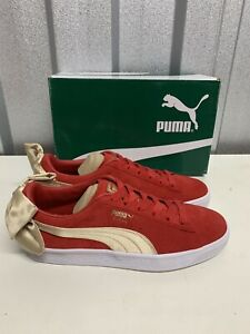 Puma Womens Suede Bow Varsity Pumps, Size UK 6  New