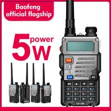 Baofeng UV-5R PLUS UHF VHF Dual Band Two Way Ham Radio Walkie Talkie Original###