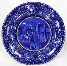 Ride of Paul Revere Plate Blue Transferware Rowland & Marcellus Staffordshire