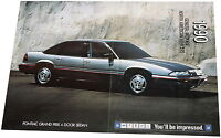 GM Prospekt 1990 D+GB Pontiac Grand Prix Corvette ZR1 Cadillac Fleetwood Beretta