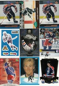 WAYNE GRETZKY  a lot of 9 DIFFERENTS CARDS INSERTS near mint   LOT 13