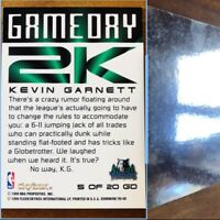 1999-00 Kevin Garnet GameDay 2K Warp Tek SP 1 of 1 Error card. Look & Read Desc.