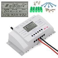 Solar Panel Regulator 40A 12V/24V MPPT Charge Controller Three Timer+ Screw AC
