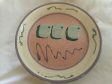Randy Hinson Pottery Plate Handmade Ceramic Signed on Back