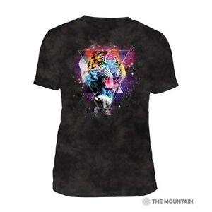 Mountain Adult Tri-blend T-shirt Cosmic Tiger