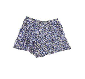 Mimi Chica Juniors Shorts Skort Size M Lined Festival Gauze Floral Blue NEW B10