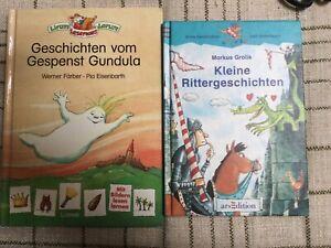 2 Bücher Erstes Lesen, Kleine Rittergeschichten u. Geschichten vom Gespenst Gund