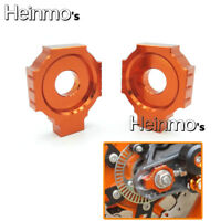 CNC Rear Axle Spindle Chain Adjuster Blocks For KTM Duke 125 200 390 2013-2015