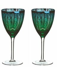 Set of 2 Peacock Wine Glasses by Artland 450ml